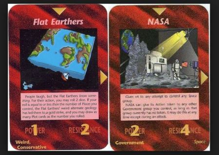 flat earth cards